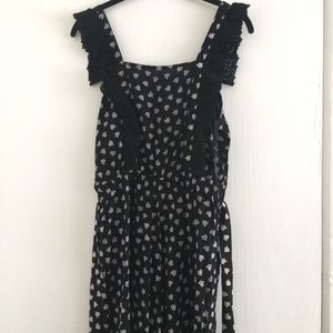 Ruffle Flower Jumpsuit Small NWT